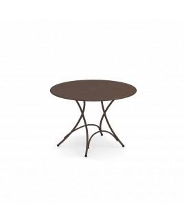 Tavolo pieghevole Pigalle diam 105cm marrone d'india Emu 309044100N