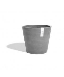 Vaso Amsterdam grigio 20cm Ecopots