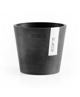Vaso Amsterdam Mini 10,5 cm Grigio scuro Ecopots