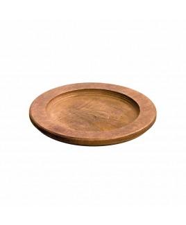 Vassoio sottopentola tondo in legno 24,1cm Lodge LDGU5RP
