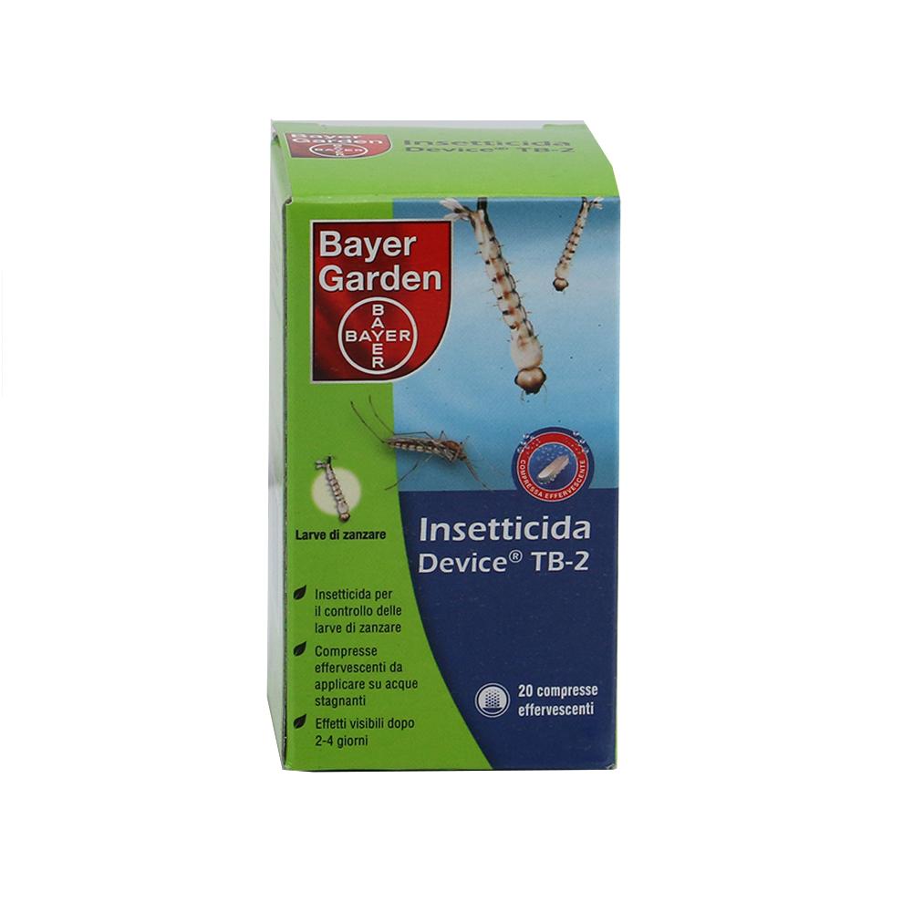 Insetticida larvicida per zanzare device tb2 bayer garden for Larve zanzare