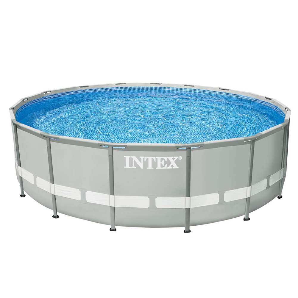 Piscina fuoriterra ultra frame rotonda 427 x 107 cm intex for Piscina intex rotonda